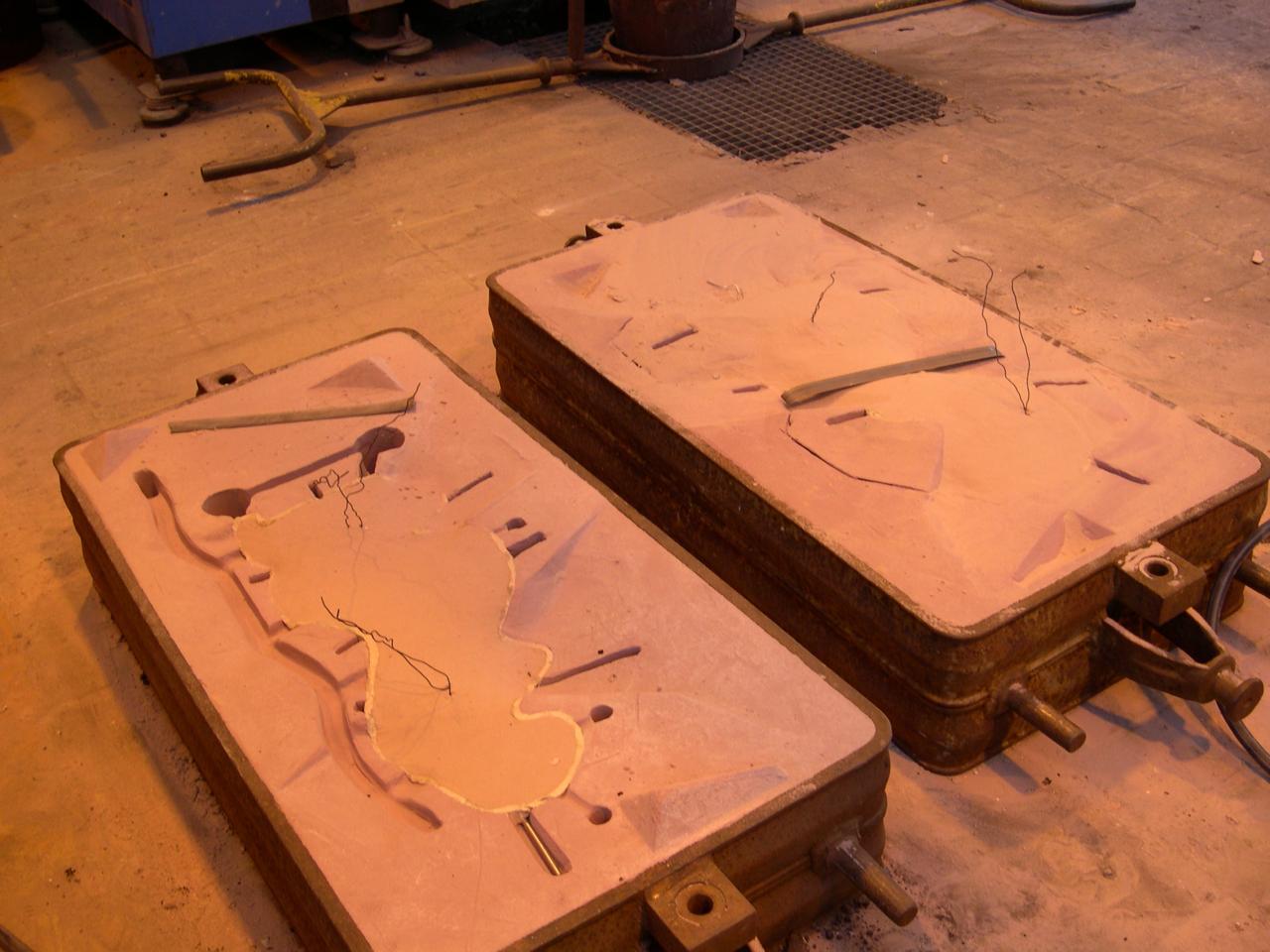 remplir l'emprunte de sable chimique